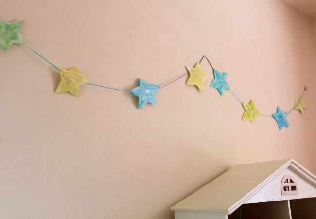 Star Garland for childs bedtime light
