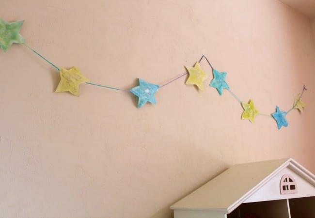 Star Garland for childs bedtime light