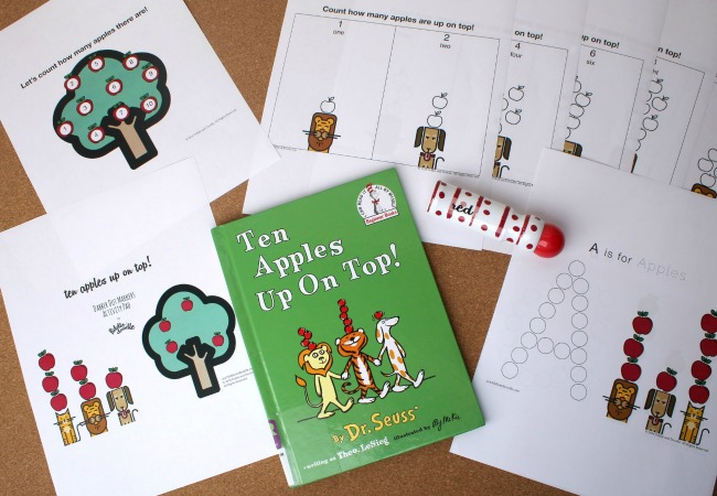 Ten Apples Up on Top Printables from Fiddle and Doddle Dot Markers
