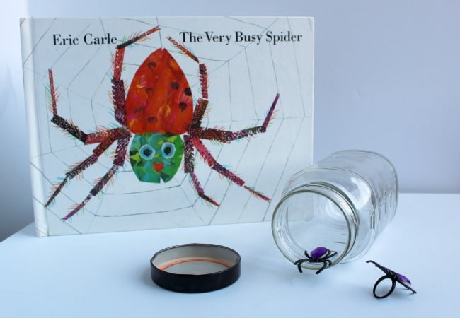 The Very Busy Spider Sensory Jar Activity