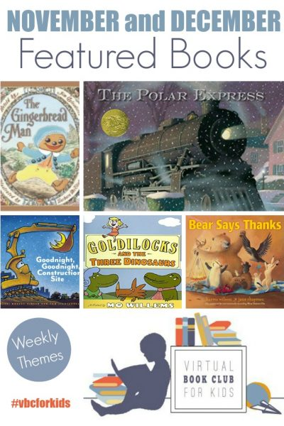 November Books for Virtual Book Club for Kids