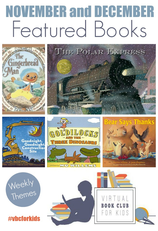 Virtual Book Club for Kids November and December Books
