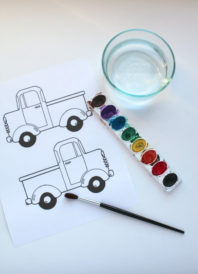 Water color Activity for Little Blue Truck