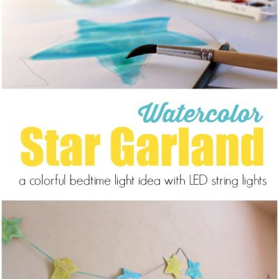 How to Make a Colorful Star Garland With Your Child