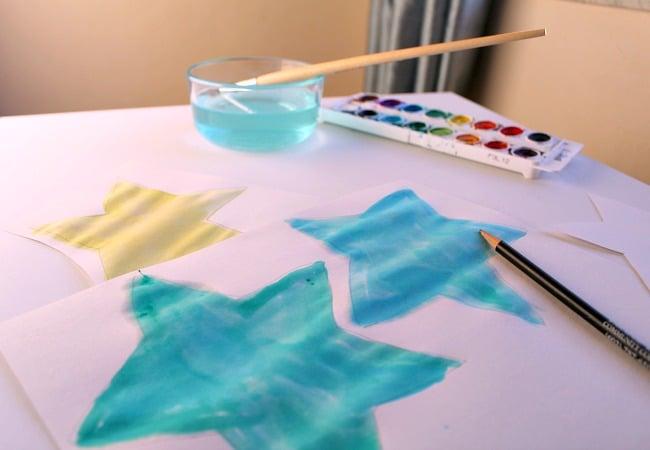 Watercolor Star Garland for Kids