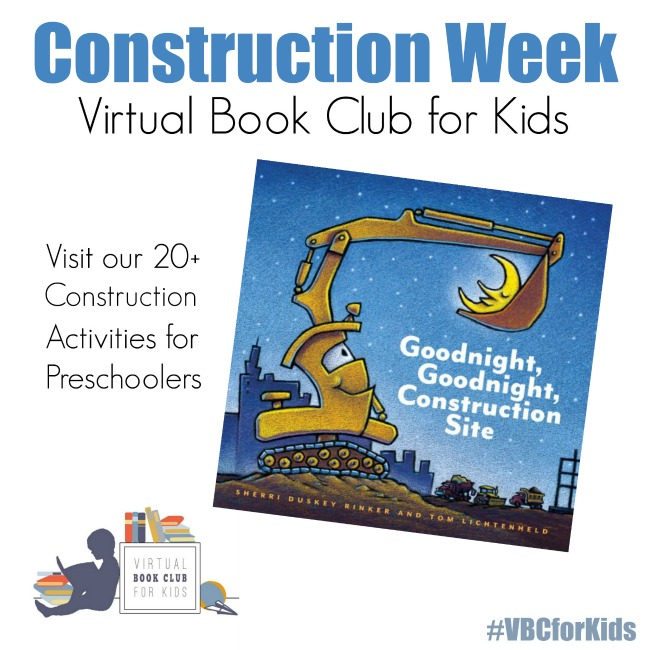 Construction Week for Virtual Book Club for Kids