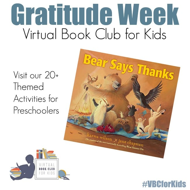 Gratitude Week for the Virtual Book Club for Kids