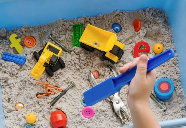 Magnetic Construction site Activity for Kids
