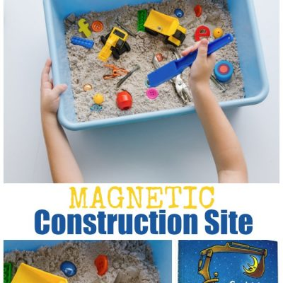 How to Make a Magnetic Construction Site for Kids to Explore