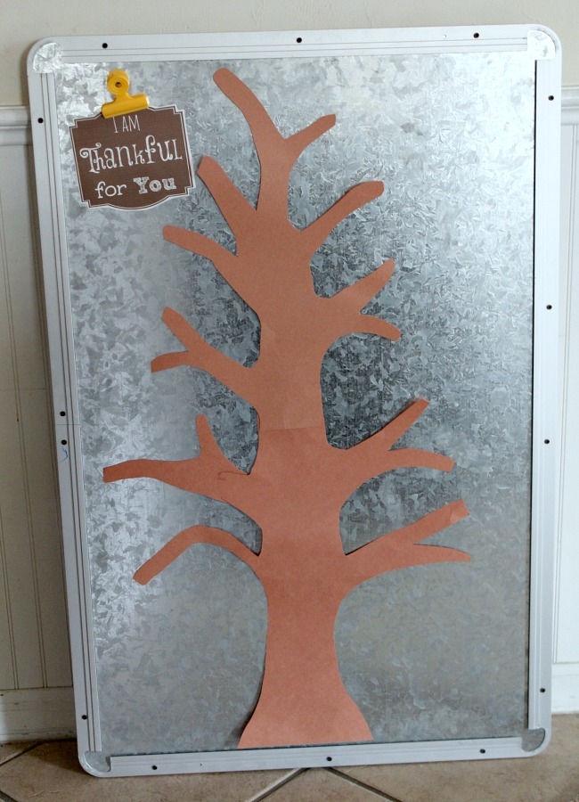 Magnetic Thankful Tree for Kids