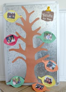 Magnetic thankful Tree for Kids for Teaching Gratitude