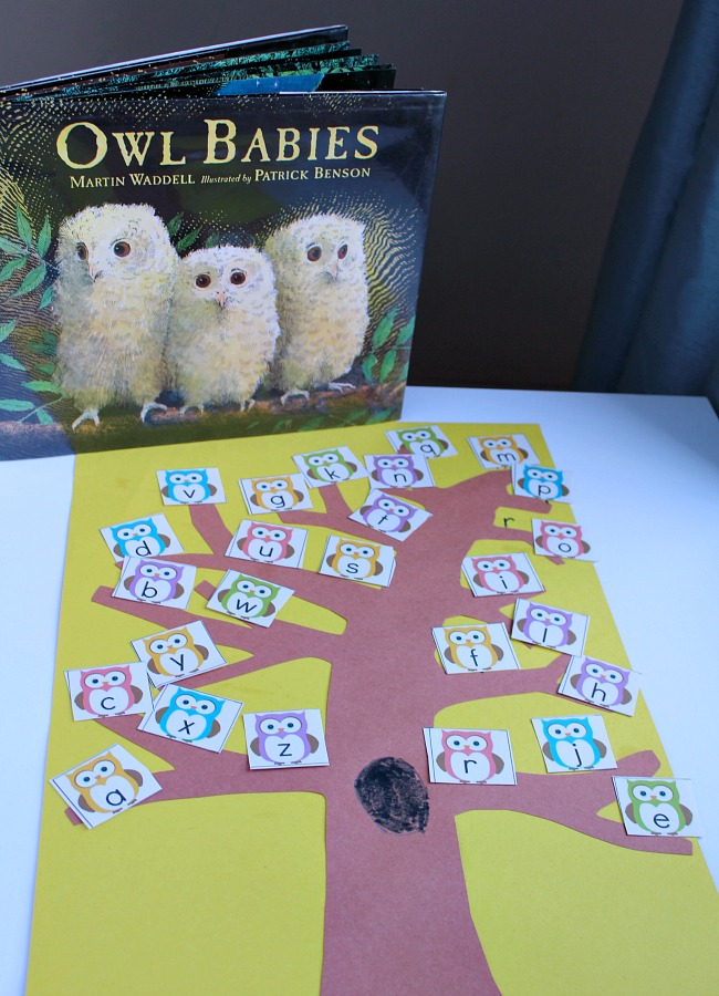 Owl Babies Alphabet Game