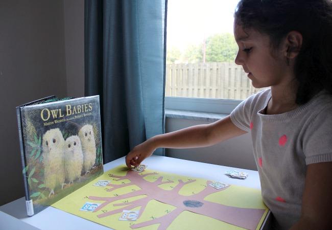 Owl Babies Alphabet Game for Preschoolers