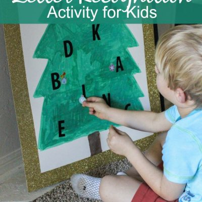 Christmas Tree Letter Recognition Activity for Kids