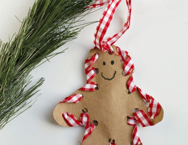 How to Make a Hand-Sewn Gingerbread Man Ornament With Your Child