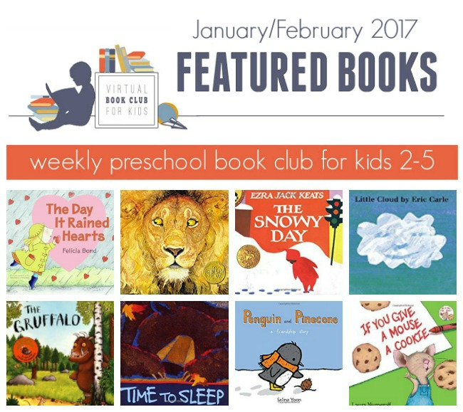 January - February Book List for Virtual Book Club for Kids