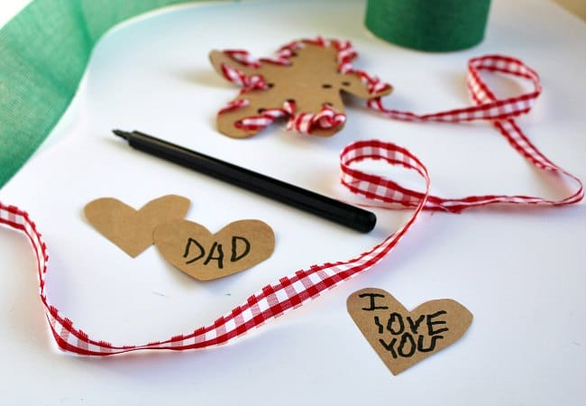 Personalized Gingerbread Man Ornament Idea with Kids
