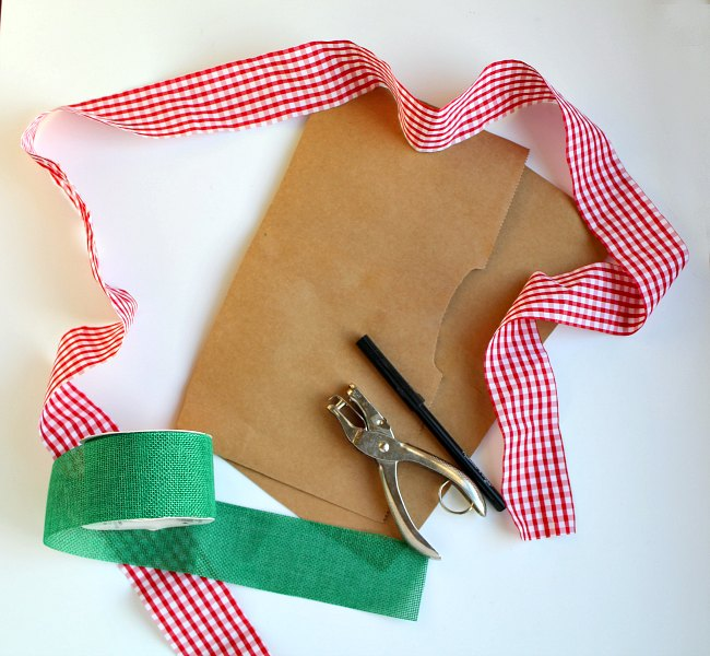 Supplies for Hand-Sewn Gingerbread Man Ornament