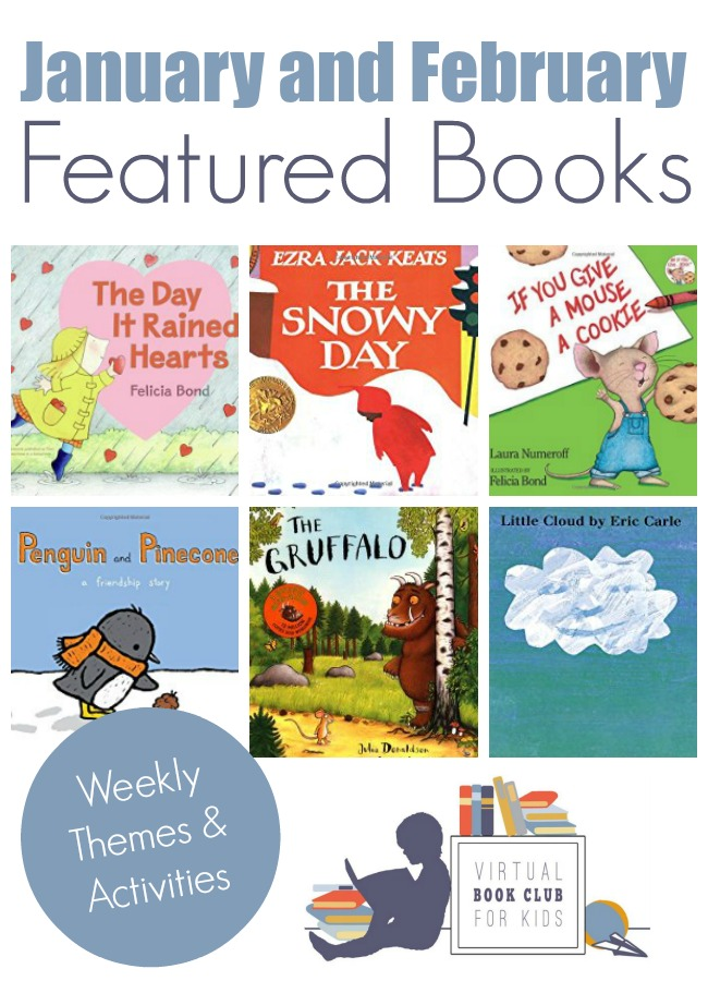 January Books for Kids featured at the Virtual Book Club for Kids