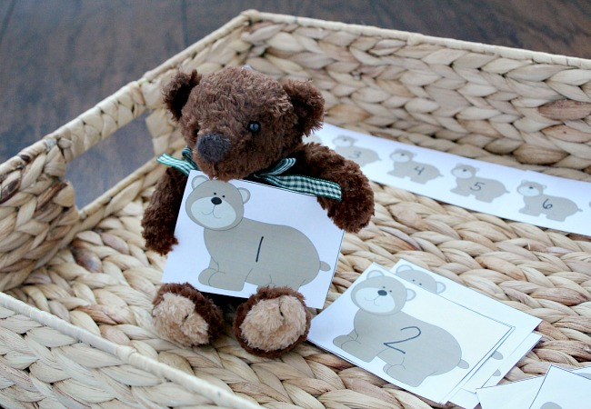 Bear Number Game with Printables for Math