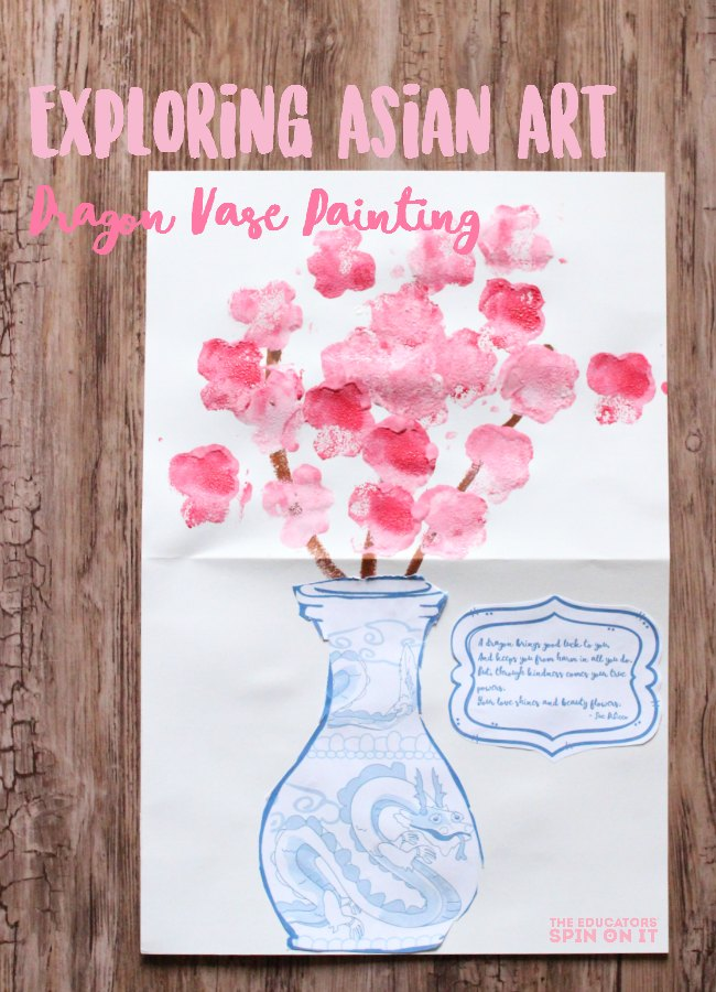 Exploring Asian Art: Drafon Vase Painting Project for Kids.