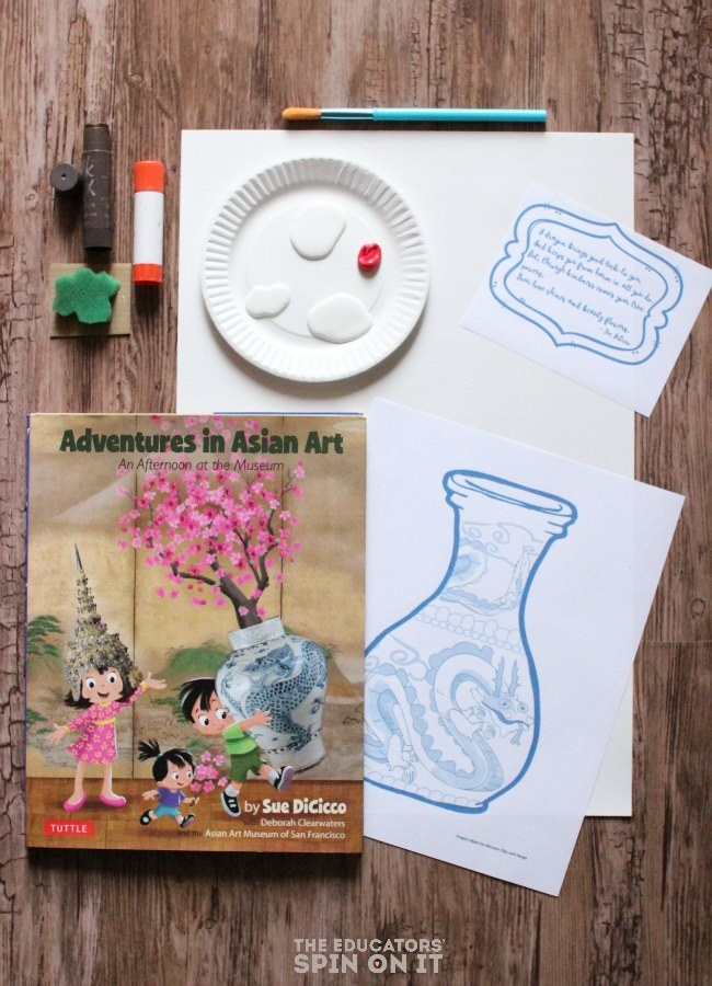 Dragon Vase Painting Project for Kids: Raising global kids, art projects for young children, Chinese New Year painting