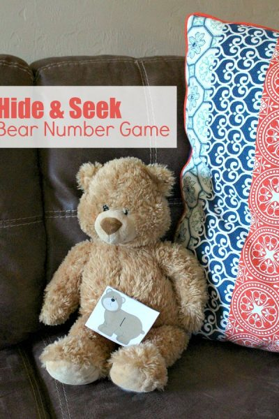 Printable Hide and Seek Bear Number Game for Preschoolers