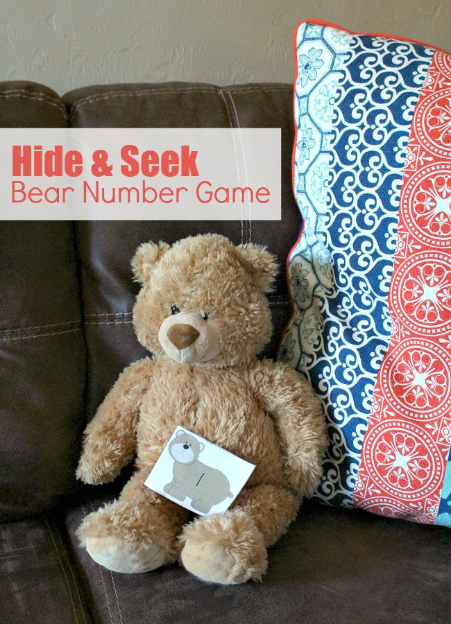 Hide and seek Printable Bear Number Game for Preschoolers
