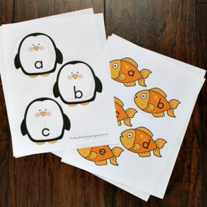 Penguin Themed Alphabet Game Printables