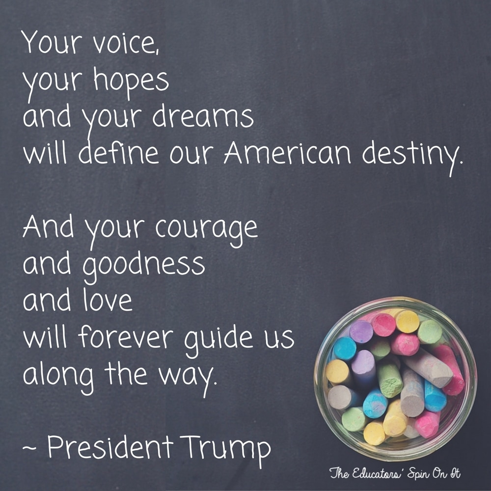 President Trump Inspirational Quote from Inauguration Speech 2017
