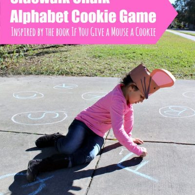 Sidewalk Chalk Alphabet Cookie Themed Game