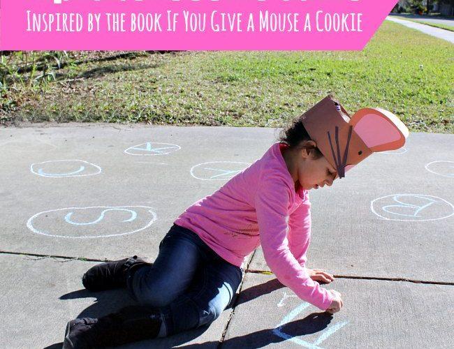 Sidewalk Chalk Alphabet Cookie Themed Game