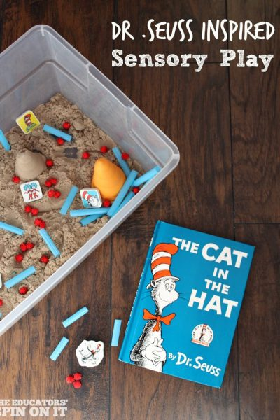 Dr. Seuss Sensory Play with Kinetic Sand