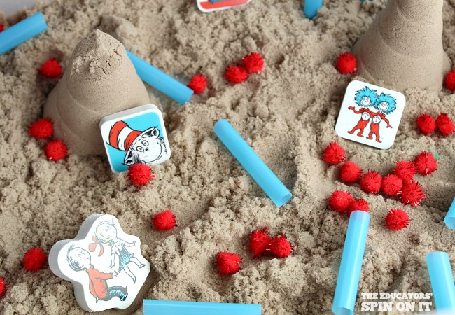 Dr. Seuss Sensory Play Invitation for Preschoolers