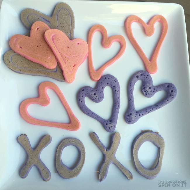 Easy Heart Pancakes Recipe with Kids