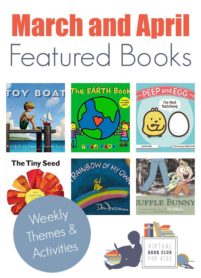 March Book List and Themes for Virtual Book Club for Kids
