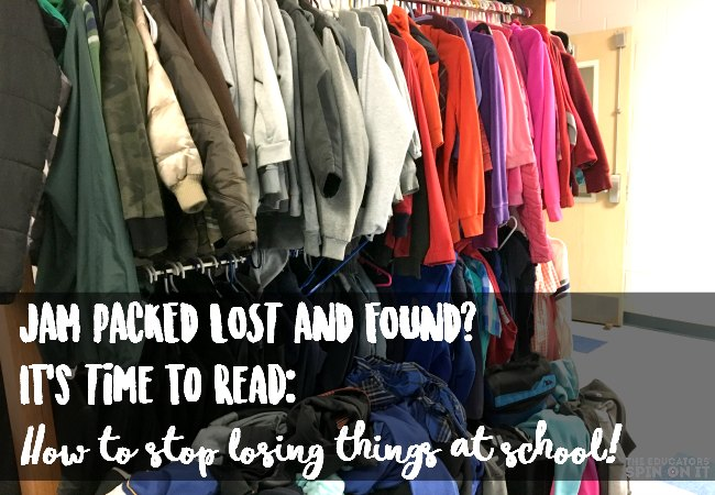 Packed lost and found? How to stop losing things at school!