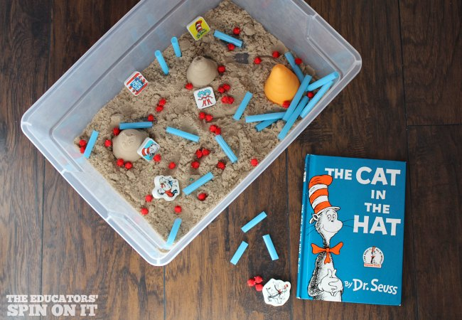 The Cat in the Hat inspired Dr. Seuss Sensory Play Idea
