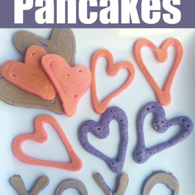 How to Make Easy Heart Shaped Pancakes with Kids