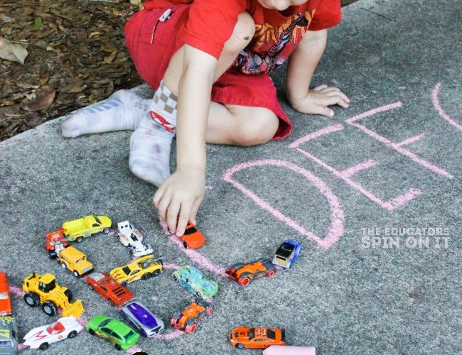 Learn and Zoom the ABC's Outside : An Alphabet Car Activity for Kids