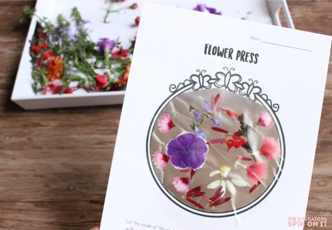 Flower Press, a fun flower activity for kids to make
