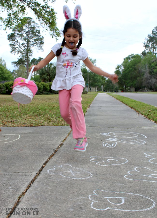 Gross Motor Movement for Spring with a Fun Bunny Alphabet Game