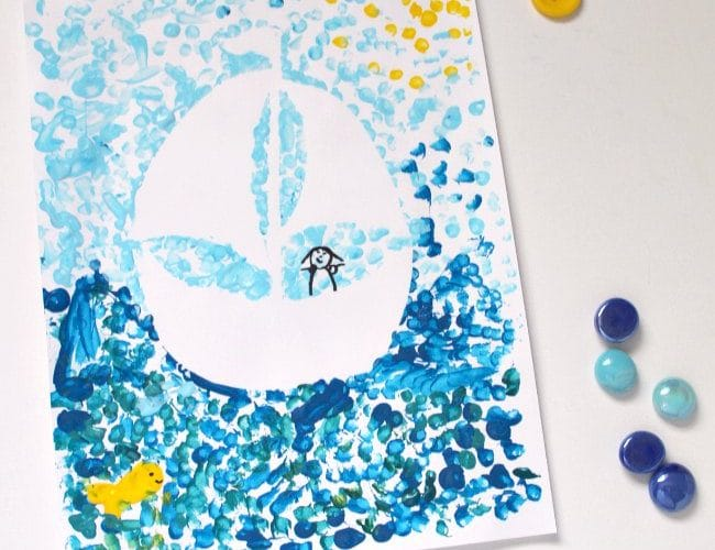 How to Make a Paint Resist Toy Boat Art Project