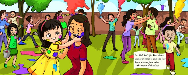 Pictures from Book celebrate Holi with Me