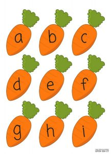 Printable Alphabet Bunny Game for Preschool & Kindergarten