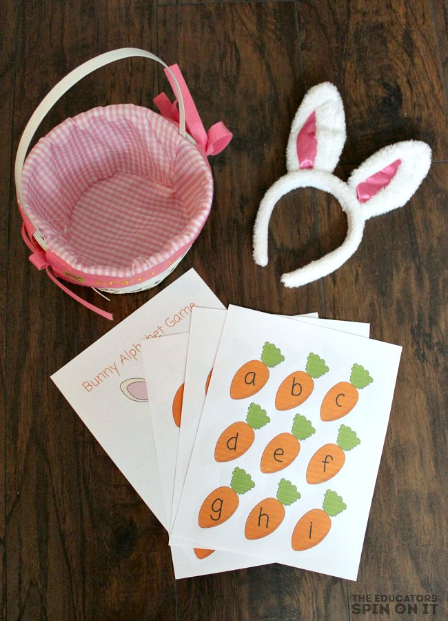 Printable Bunny Alphabet Game from The Educators' Spin On It