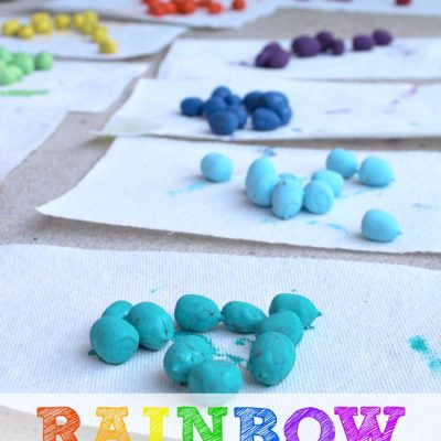 5 Math Games Using Painted Rainbow Math Counters