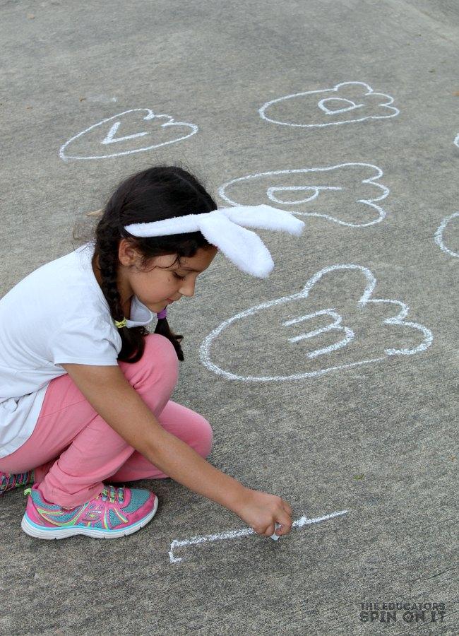 Sidewalk Chalk Bunny Alphabet Game