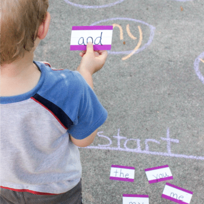 Learn to Read Sight Words with this FUN Movement Sidewalk Chalk Sight Word Game