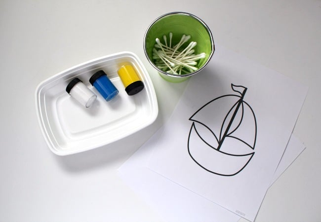 Toy Boat Art Project for Preschoolers